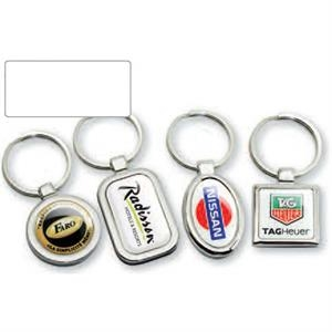Platinum Series - Oval - Stock Shape Key Chain With Attractive Design