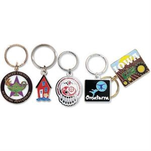"1 3/4"" - Imported Iron Soft Enamel Key Chain With 32 Mm Split Ring, 2mm Thickness"