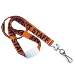"5/8"" Pre-Printed \""Event Staff\"" Lanyard with Swivel Hook"