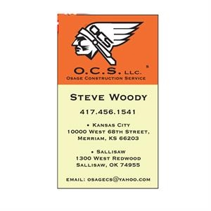 Business Card Rectangular Magnet With Square Corners, 0.025 Thickness