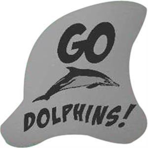 Foam Cheering Mitt With Dolphin Fin Shape. 15""