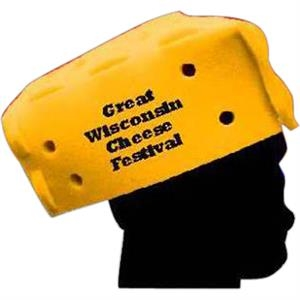 Cheese Shaped Foam Novelty Hat. 7""