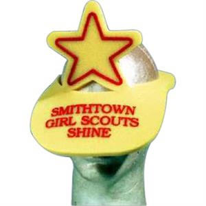 5 Pt Star Top - Novelty Foam Pop-up Visor
