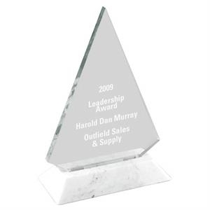 "Triangle Award With White Base, W 5"" X 7"""