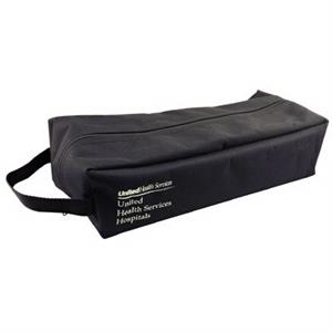 "Polyvinyl Shoe Tote With Black Stitching, W 14"" X 6"" X 4"""