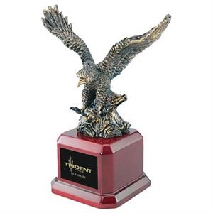 Gold Eagle Award With Square Base