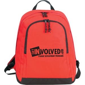 Backpack Made Of 600-denier Polyester, Has A Double Zippered Main Compartment