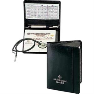 Atlantis - Leather Prescription Jotter Features Exterior Front Cover Storage Pocket
