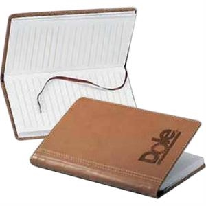 Marin - English Tan Pocket Journal With Contrast Stitching And Rounded Corners