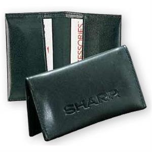 Pro Business - Pu Leather Business Card Holder Case Features Two Card Pockets Can Hold 30 Cards