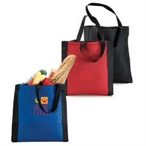 Eco-link - Tote Bag With Classic Vertical Panel Accent Trim And Large Main Compartment