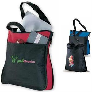 Zipit - Black - Polyester Canvas Tote Bag With A Zippered Gusset That Expands The Bag