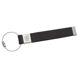 Trek (tm) - Identification Tag Constructed Out Of Simulated Leather With Metal Accents