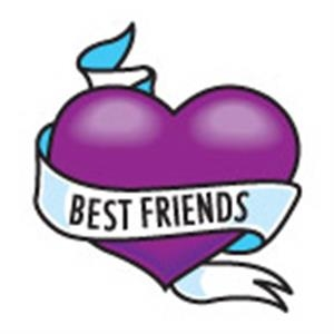 Best Friends Heart, Stock Tattoo Designs