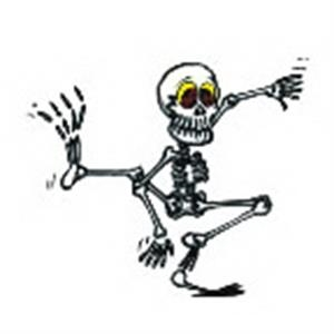Dancing Skeleton, Stock Tattoo Designs
