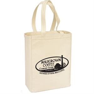 A 13 Oz. Cotton Canvas Tote Bag With Handles And Gusset