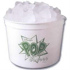 64 Oz. White Polyethylene Ice/popcorn Bucket