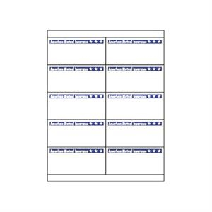 "Sheet Of 2 Blank 8.5"" X 5.5"" Laser Labels"
