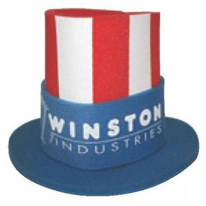 Foam Uncle Sam Hat With Stars And Stripes