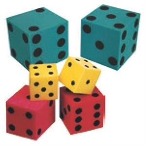 "4"" - Foam Novelty Dice Pair With Square Corners"