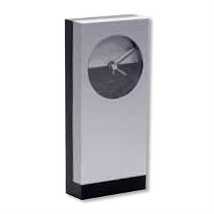 Abstract Table Quartz Clock With Large Imprint Area For Maximum Exposure, Closeout