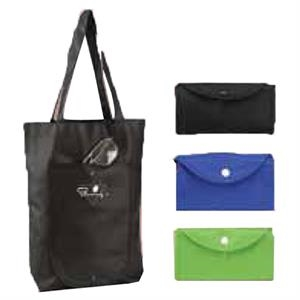 Eco Folding Tote Bag, Blank, Closeout