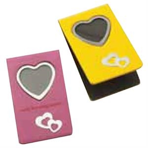 Magnetic Bookmark Holds Single Photo In Heart Shape Frame, Blank, Closeout