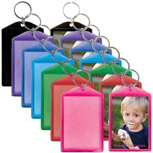 "Translucent Sparkle Snap-in Key Tag, Insert Size: 2"" X 2 7/8"""