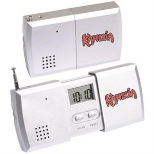 Pull Apart Fm Scan Radio Alarm Clock With Telescoping Antenna