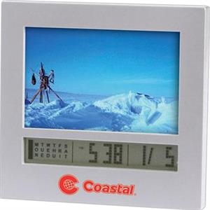 Photo Frame With Digital Calendar And Alarm Clock