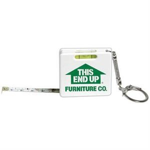 Tape Measure Key Chain With Level