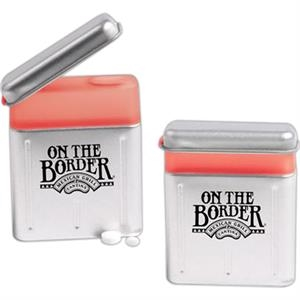Pop Top Tin With 1/2 Oz. Of Peppermint Breath Mints