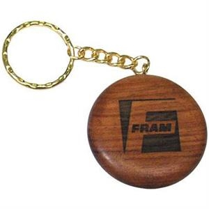 Rosewood - Round Solid Wood Key Tag