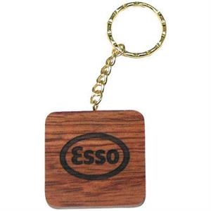 Maple - Square Shape Solid Wood Key Tag
