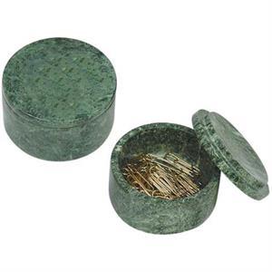 Round marble paper clip holder