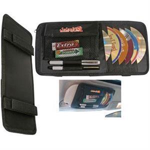 Multipurpose CD/DVD visor caddy