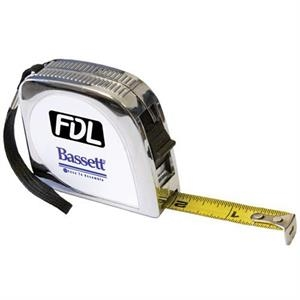 Twelve Foot Tape Measure With Metal Clad Case And Belt Clip