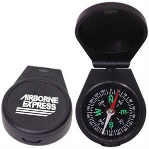 "Liquid Filled Compass With Fold Over Snap Closure, 1 3/4"" Diameter"