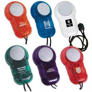 Pocket massager with neck cord and batteries