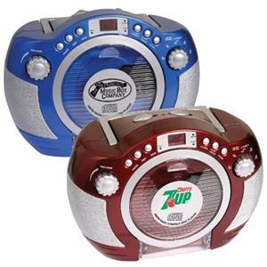 Retro style CD player with AM/FM stereo
