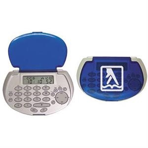 Silver Pocket 2k Databank Calculator With Fold Over Cover, Password Protected