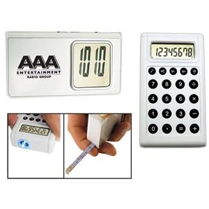 5-in-1 Calculator Alarm Clock With Light And Tape Measure