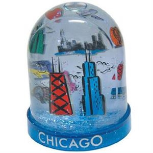 Large Tower Two-level Water Ball With Clear Acrylic Panel In Center Of Dome