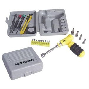 Compact And Portable 24-piece Tool Set In Molded Plastic Storage Case