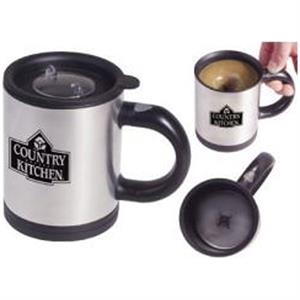 Stainless Steel 12 Oz. Stir Mug With Polypropylene Inner Liner