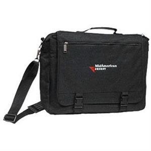 Black Cordura Nylon Briefcase With Expandable Laptop Computer