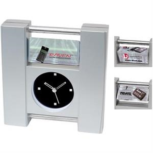 Rotating Ad Desk Clock With Second Hand
