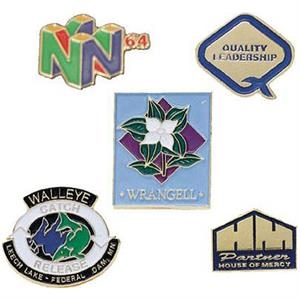 "5/8"" - Soft Enamel Cloisonne Lapel Pin With A Military Clutch Back"