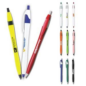 Sidekick - Retractable Ballpoint Pen Has A Slim Contoured Design
