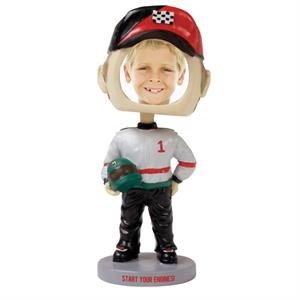 Single Bobble Head (race Car Driver)